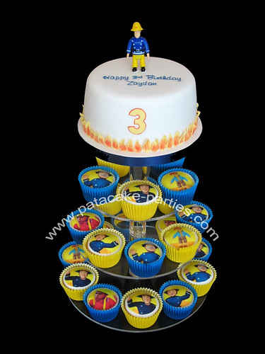 Fireman Sam Cupcake Display