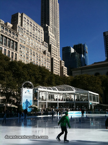 NYC Bryant Park Citi Pond Ice skating 2011