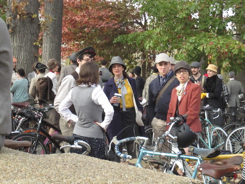 Crowd at DC Tweed Ride 2011