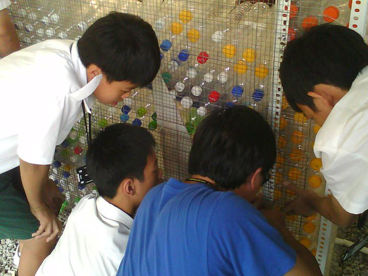 劉偉倫與培中學生
