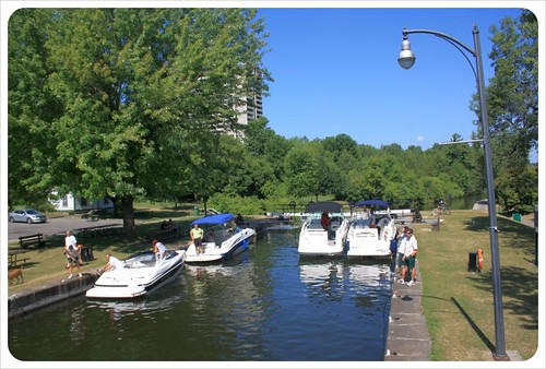 ottawa rideau canal boats in lock