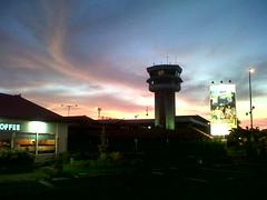 Siluet Menara Bandara Ngurah Rai
