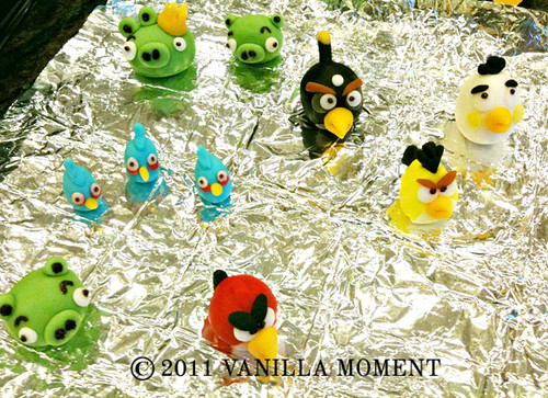 Angry birds sugar models