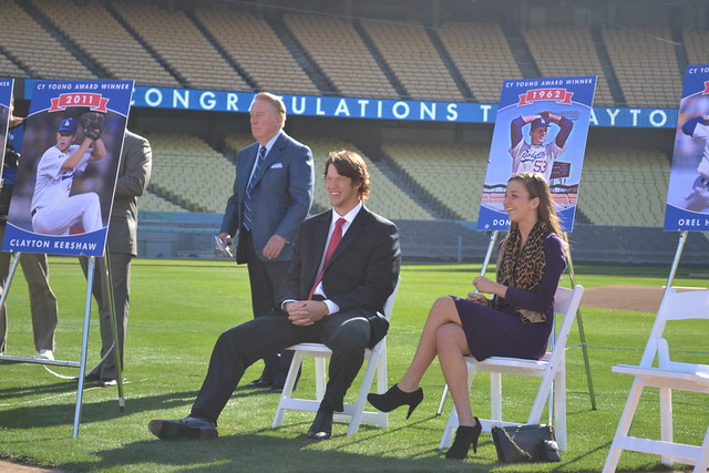 Vin Scully, Clayton Kershaw & Ellen Kershaw