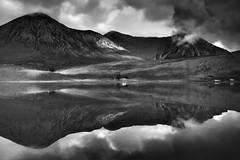 sligachan mandelbrot (s k o o v) Tags: blackandwhite mountains reflection reflections landscape mirror isleofskye explore cuillin sligachan gf1 skoov silverefexpro contrastgrading