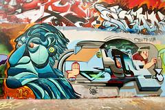 Pitiao & Shane (dprezat) Tags: street urban paris art painting stencil shane tag graf peinture aerosol bombe pochoir ruedespyrnes ruedelagny pitiao sonyalpha700