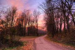 Twilight road [Explored] (nikolaos p.) Tags: autumn fall twilight roads colorphotoaward