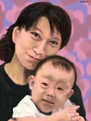Mother And Child #2 2 (Tadaoki) Tags: woman baby art digital painting child mother mama figure           ipadart ipadpainting