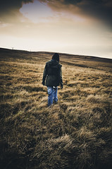 (Darren-Muir) Tags: autumn portrait sky woman mountains water grass trek dark walking landscape person one scotland back alone moody colours view adult hiking rear lowlands scenic scottish hike full burnt land lone moors lonely proof marsh cp moor desolate tranquil borders inhospitable scottisj