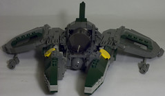 GG-9 Viper-class fighter (brickmack) Tags: fighter lego spaceship vv darkgreen moc starfighter greeble vicviper