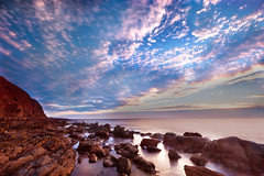 Marino Rocks Sunset (James Yu Photography) Tags: longexposure sunset photography james seascapes australia adelaide sa southaustralia redcloud timescape australiabeach