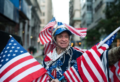 Lenny: Tribeca, Manhattan (Chris Arnade) Tags: newyorkcity manhattan flags tribeca chrisarnade occupywallstreet