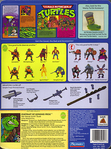 TEENAGE MUTANT NINJA TURTLES :: GENGHIS FROG .. card backer ii (( 1989 ))