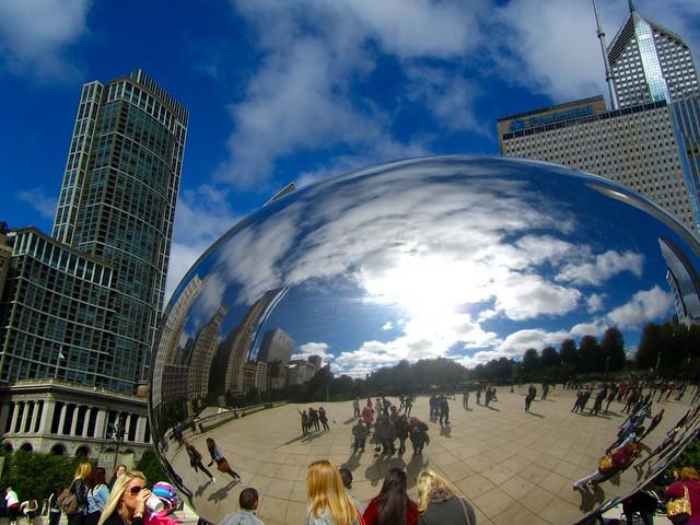 """Millennium Park, Cloud Gate, """"The Bean,"""" Chicago"""