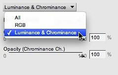 Select Luminance and Chrominance
