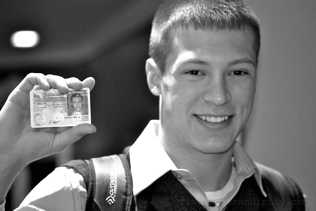 jordan receiving his license