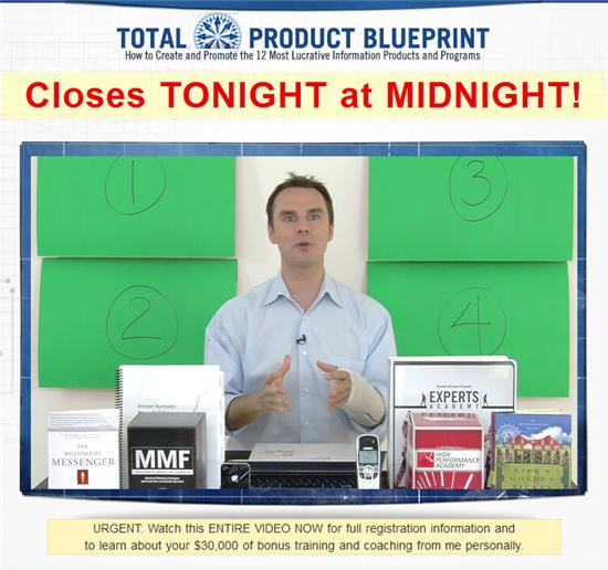 ブレンドン・バーチャード(Brendon Burchard)、『Total Product Blueprint』(トータル・プロダクト・ブループリント)のセールス動画