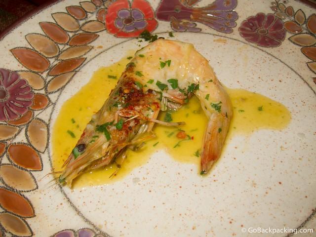 Langostinos at Tiesto's Restaurant