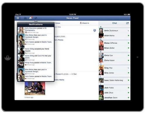 iPad facebook 3