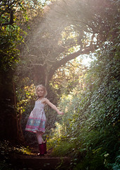... (Richard Boak (stuck on the rock)) Tags: trees light portrait sun girl look 50mm coast woods nikon path secret adventure lane flare jersey rays 18 glance