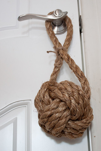 Sailor's knot doorstop