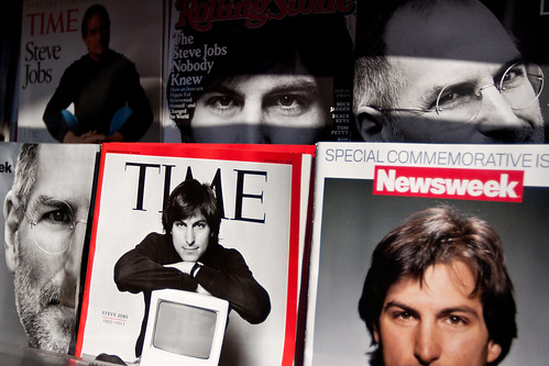 steve jobs magazine cover time portrait newsstand