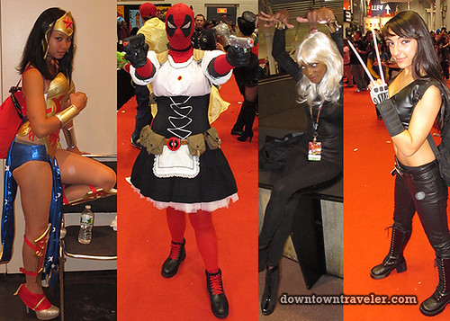 2011 NY Comic Con Women Superhero Costumes
