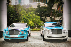 Mulsanne Extravaganza (anType) Tags: uk greatbritain blue white car sedan asia unitedkingdom turquoise exotic malaysia british kualalumpur luxury v8 bentley johor dualtone mulsanne worldcars