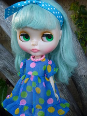 We love this dress.... each colored dots are the color of her chips!!