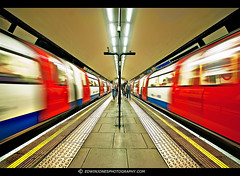 Clapham Common Duel Tube {EXPLORED Oct 17th 2011} (Edwinjones) Tags: pictures city uk blue red england urban color colour building london art texture lines architecture train buildings underground subway photography lights design photo interesting shiny colours metro photos metallic sony tube perspective picture sigma wideangle pic explore tubestation londonunderground dslr northern clapham claphamcommon subways northernline tubetrain undergroundstation centralperspective explored dslra550