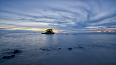 #850C4653- Blue Octopus Clouds (Zoemies...) Tags: blue sunset beach clouds slowshutter octopus balikpapan melawai zoemies