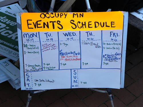 Schedule at OccupyMN - Day 14