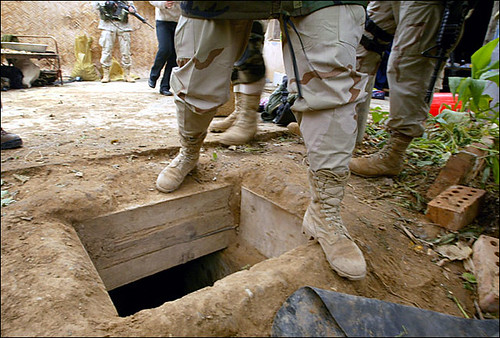 Saddam was hidden in this hole when captured