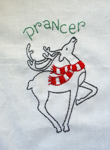 Reindeer Embroidery - Prancer
