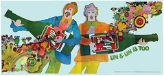 "1969 21'x10' 7Up UnCola ""Un & Un Is Too"" vintage billboard poster by Kim Whitesides (SMALL COPY FOR SALE) Woodstock (btreat) Tags: art 1969 illustration vintage advertising poster retro advertisement popart 70s billboards hippie beatles soda 1970s edc psychedelic woodstock flowerchild 7up largescaleart uncola madmen electricdaisycarnival whitesides johnalcorn vintagebillboard 1960sadvertising vintagebillboards retrobillboard kimwhitesides patdypold ununistoo edclv vintagebillboardposter madmen1960s artisticbillboards 50thanniversaryofwoodstock 7x7up retrobillboards 7upuncolafallpaperposters 7upfallpaper retroposterset"