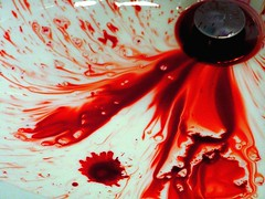 Drain Away the Pain (crdotx) Tags: red white stain death blood sink drain bleed