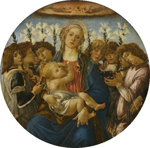 《圣母子与歌唱的天使》,波提切利
