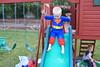 IMG_9101 (drjeeeol) Tags: halloween costume backyard katie superman charlie will superhero cape supergirl triplets toddlers 2011 36monthsold