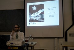 Men of Steel exhibit talk by Alec Longstreth (Center for Cartoon Studies) Tags: editorialcartoon centerforcartoonstudies aleclongstreth howardgoodwin