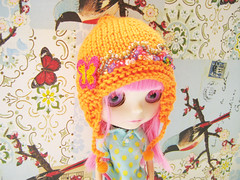 Gorro Mariposa (Daiverdei) Tags: toys handmade guava blythe knitted amigurumi