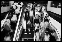 . (tany_kely) Tags: china street leica urban blackandwhite bw white motion black underground subway noir shanghai noiretblanc mtro crowd nb foule rue blanc narrows chine mouvement urbain m9 flches