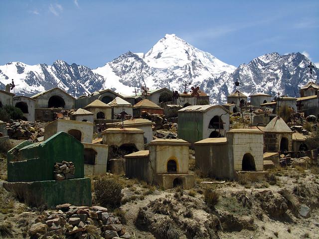 Miners graveyard (with Huayana Potosi)