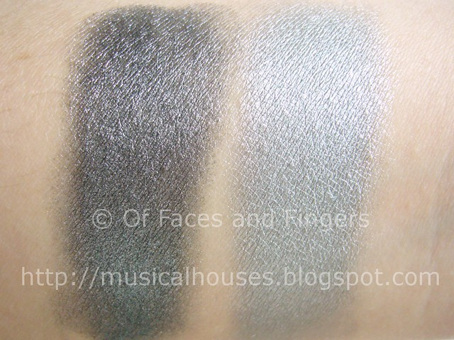 sleek molten metal steel ash swatch