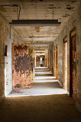 Abandoned State Hospital (AeroFennec) Tags: urban abandoned hospital hall state decay exploring center hallway medical asylum psychiatric ue psych