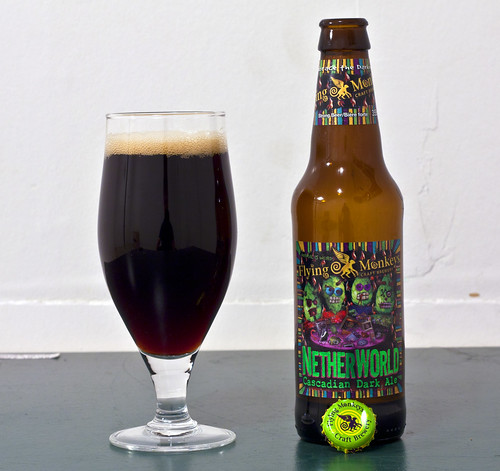 Review: Flying Monkeys' Netherworld Cascadian Dark Ale by Cody La Bière