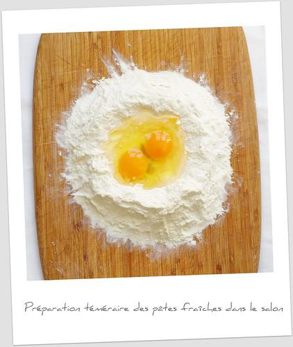 Préparation de la pasta fresca