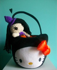 Happy Halloween! (Mooy) Tags: cute halloween toy doll handmade hellokitty crochet plush kawaii amigurumi