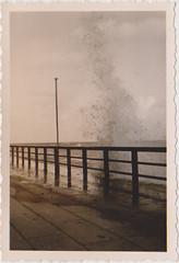 splashing waves (1935) (indigo_mint) Tags: old sea vintage germany deutschland photo 1930s waves tide insel 1935 30er schiffsreise 30erjahre nordfriesischeinseln 1930er kniginluise nordfriesisch