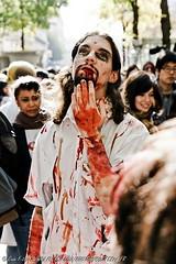 ZOMBIE WALK PARIS 2011 06133 (Cortez77_fr same nickname on Ipernity) Tags: portrait sun man paris halloween movie dead costume blood focus shadows dof cosplay makeup horror latex cinematic 2011 zombiewalk pariszombie