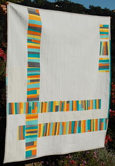 """fact or fiction"" quilt front (bloomingpoppies) Tags: solids stacked whitesashing bloggersquiltfest"